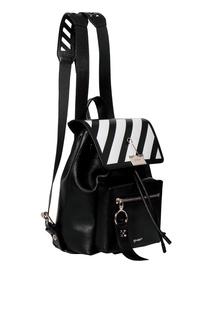 Черный рюкзак с контрастной отделкой Off White