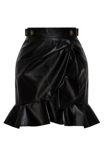 Короткая черная юбка Self Portrait
