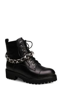Черные ботинки с декоративной цепью Portal