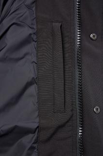 Черный пуховик с двойными карманами Canada Goose