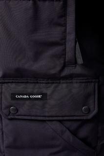 Темно-синяя парка с воротником-стойкой и накладным карманами Canada Goose