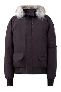 Черная куртка со вставками-резинками Canada Goose