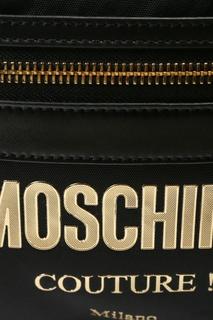 Черный рюкзак с крупным логотипом Moschino