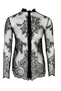 Черная блузка из кружева Ermanno Scervino