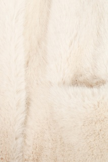 Белая шуба из экомеха Ermanno Scervino