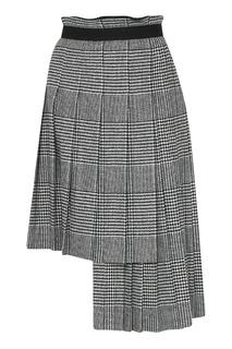 Асимметричная серая юбка Ermanno Scervino
