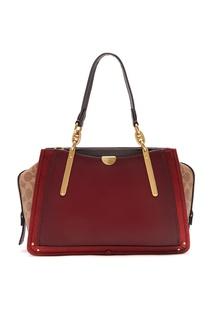 Красная сумка Dreamer с контрастными вставками Coach