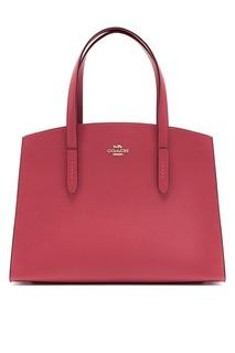 Темно-розовая сумка Charlie Carryall Coach