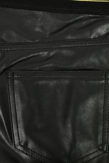 Черные брюки под кожу с отделкой Ermanno Scervino