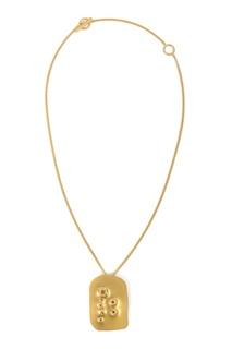 Золотистое колье-цепочка с подвеской Jil Sander