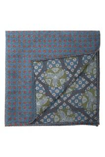 Синий шерстяной платок-паше в горох Eton