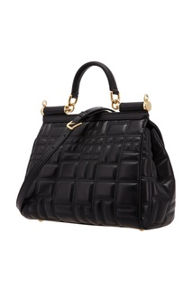 Стеганая черная сумка Miss Sicily Dolce&Gabbana