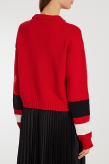 Красный свитер с якорем Msgm