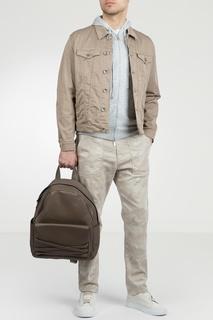 Хлопковая бежевая куртка Eleventy