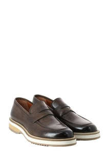 Коричневые кожаные ботинки Eleventy