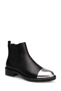 Кожаные ботинки с серебристыми носами Portal