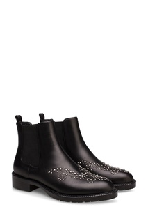 Высокие черные ботинки с декором Portal