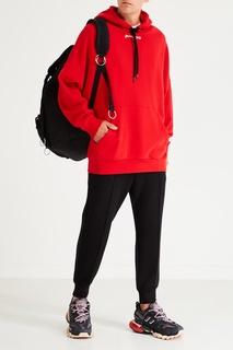 Черный стеганый рюкзак с клапаном Eastpak x Raf Simons