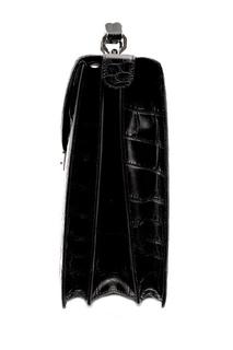 Черный портфель под кожу крокодила Artioli