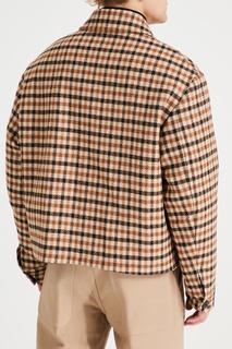 Клетчатая шерстяная куртка AMI