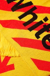 Красно-желтый шарф с логотипом Off White