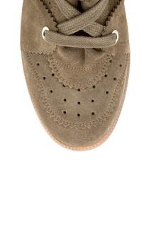 Замшевые кроссовки на танкетке Isabel Marant