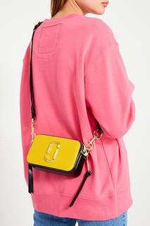 Желтая сумка из текстурированной кожи Snapshot The Marc Jacobs