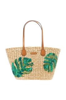 Плетеная сумка с вышивкой Malibu Michael Kors
