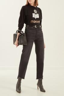 Укороченные черные джинсы Sandro
