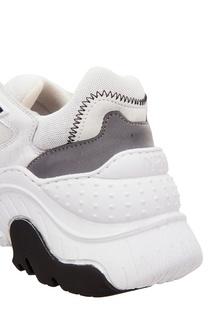 Белые кроссовки Billy с полосатыми шнурками No21