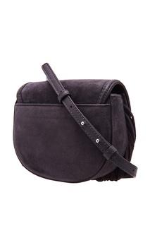 Cерая замшевая сумка Cary Michael Kors
