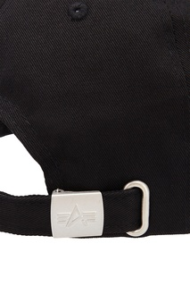 Черная кепка с вышитым логотипом Alpha Industries