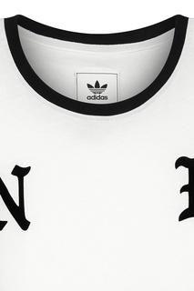 Белая с черным футболка adidas x Neighborhood