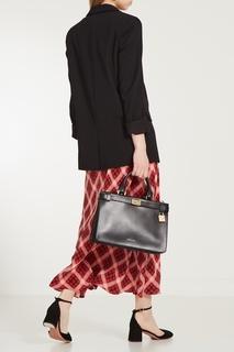 Черная сумка Tatiana из кожи Michael Kors