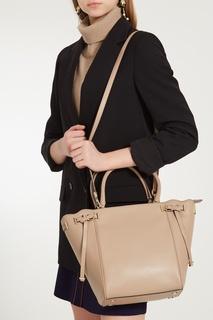 Бежевая сумка Amelia Michael Kors