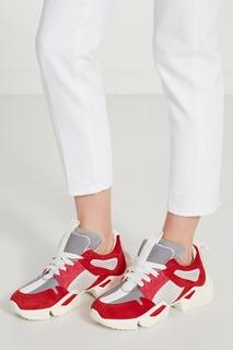 Розово-бело-красные кроссовки Unravel Project