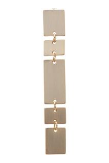 Золотистые серьги с геометрическим дизайном Adolfo Dominguez