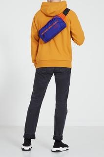 Фиолетовая поясная сумка с орнаментом The North Face