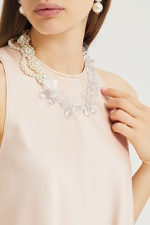 Ожерелье со стеклянными цветами Simone Rocha