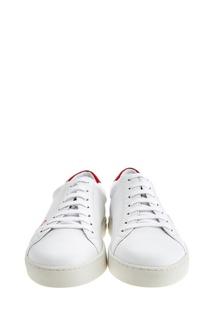 Белые кеды с вышивкой Moreschi