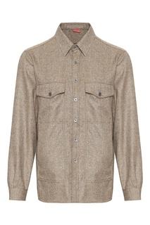 Куртка из светло-коричневого кашемира Isaia