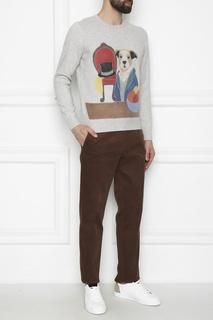 Джемпер с цветным рисунком Della Ciana