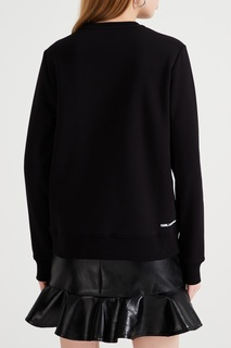 Черный свитшот с блестящим рисунком Karl Lagerfeld