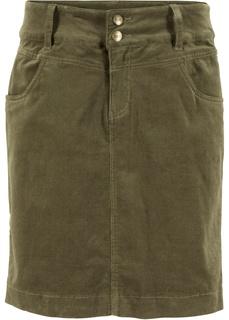 Короткие юбки Юбка из вельвета-стретч Bonprix