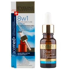 Сыворотка для лица EVELINE FACEMED+ 8 в 1 ночная мультиактивная против несовершенств 18 мл