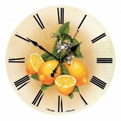 Настенные часы (33x33x4 см) Лимоны 02-006 Династия