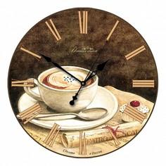 Настенные часы (33x33x4 см) Кофе 01-007 Династия