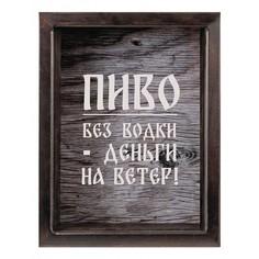 Копилка для пивных крышек (22х26 см) Пиво без водки - деньги на ветер KD-023-139 Дубравия