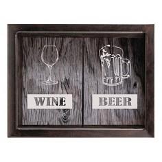 Копилка для винных пробок и пивных крышек (45х29 см) Beer/Wine KD-024-164 Дубравия