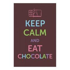 Панно (20x30 см) Eat chocolate TM-113-185 Ekoramka